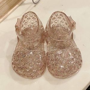 NWOT Baby Girl Old Navy Pink Sparkle Jelly Sandals